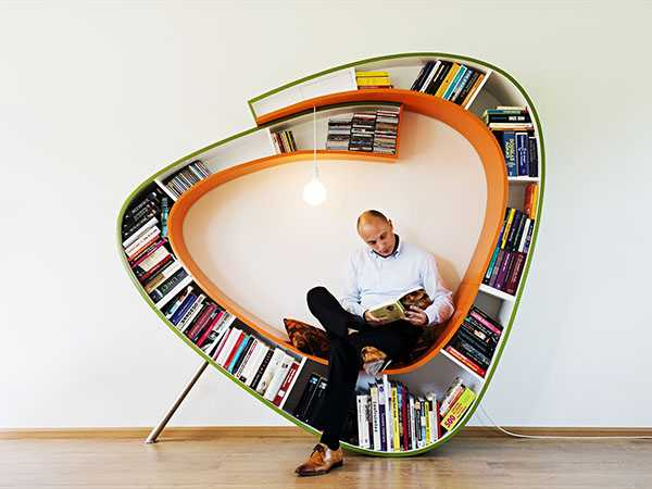Hem kitaplık hem koltuk diyorsanız işte bu