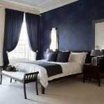 duvar renginde yatak odasi perde modelleri