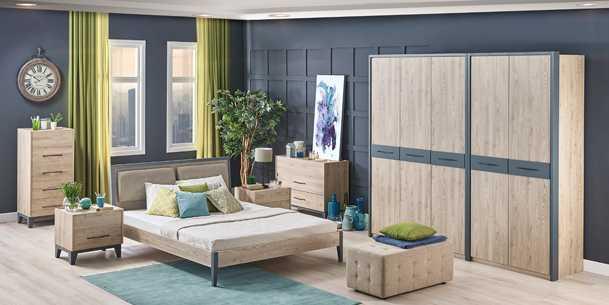 En modern yatak odası