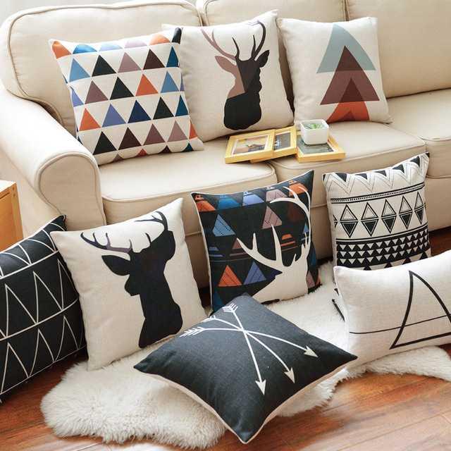 geyik ve geometrik yastık modelleri