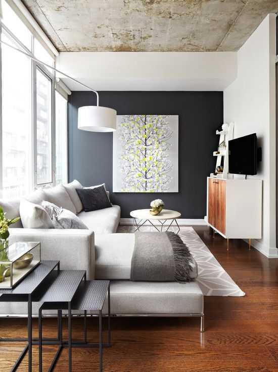 küçük oturma odaları için en modern dekorasyon