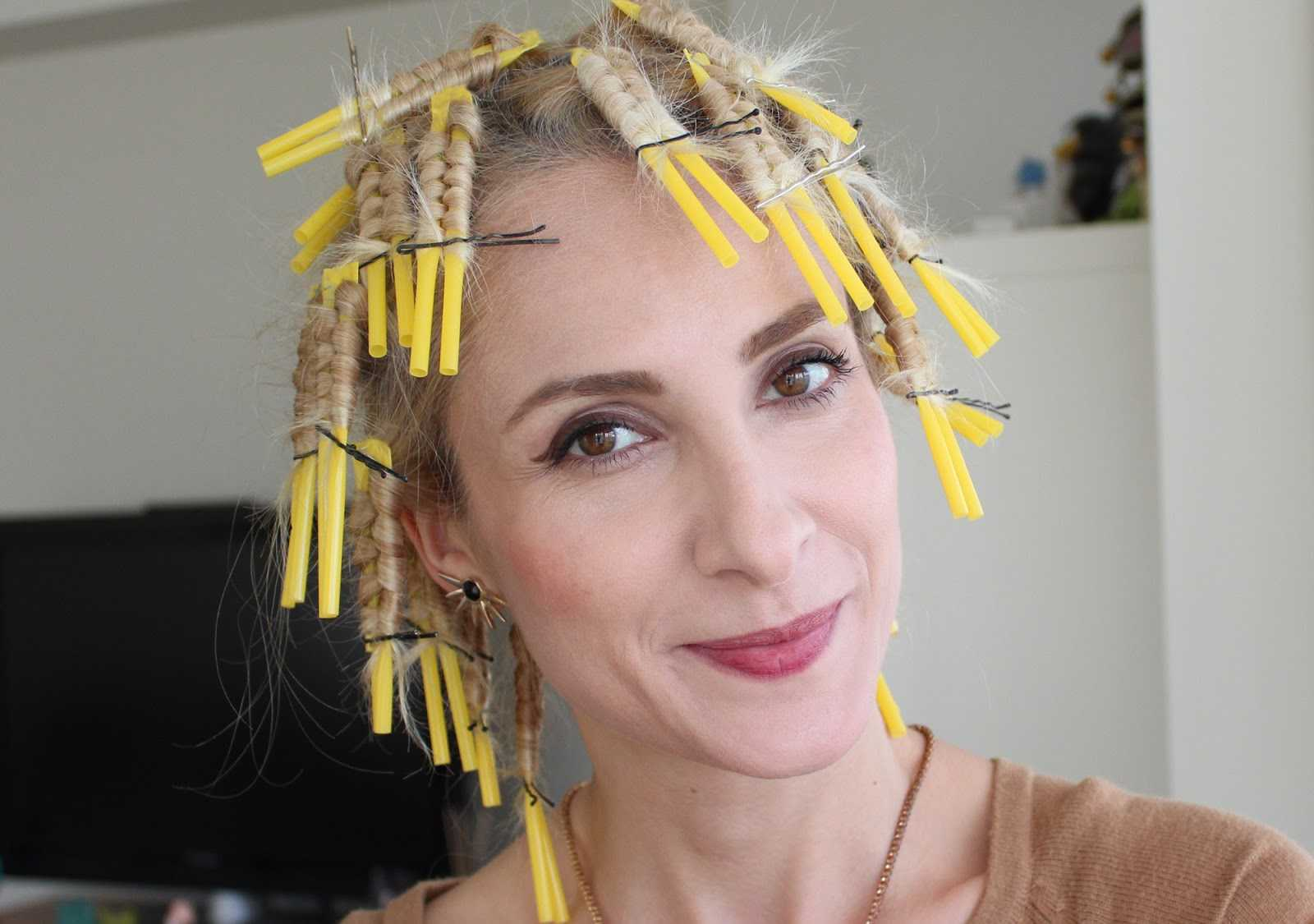 pipet ile kıvırcık saç yapımı