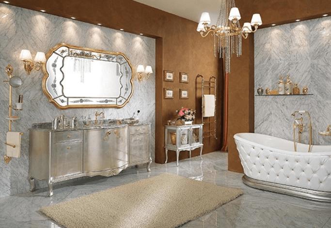 lüks banyolar için en şık duvar kağıtları