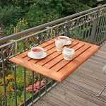 ahşap balkon masa