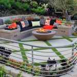 bahçe oturma alanı dekorasyonu