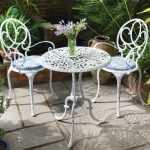 ferforje en şık bahçe balkon sandalye masa