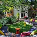 renkli bahçe dekorasyonu