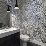 siyah beyaz banyo duvar kağıdı desenleri