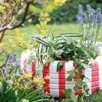 bahçe dekoratif teker boyama