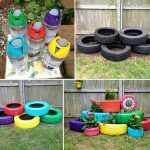 renkli bahçe dekorasyon fikirleri