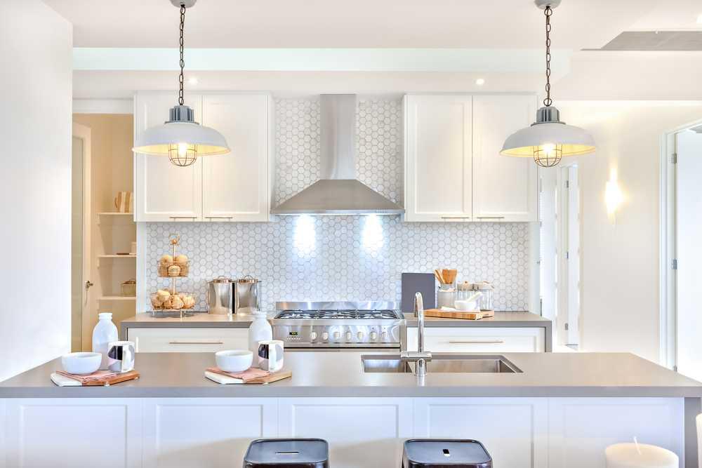 beyaz mutfak için avize modeli