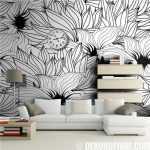 desenli siyah beyaz duvar kağıdı