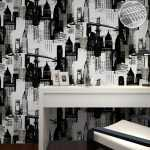 ev dekorasyonu siyah beyaz duvar kağıtları