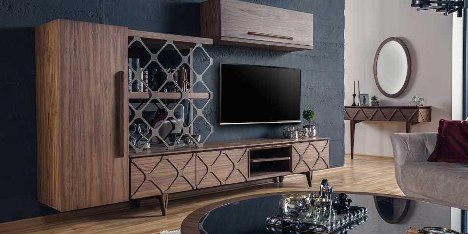 şık dekorasyon tv üniteleri