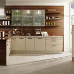 ahşap ve lake mutfak dizaynı