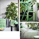 yeşil beyaz ikea mobilyaları