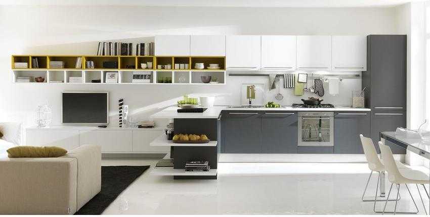 stüdio evlerde amerikan mutfak dekorasyonu