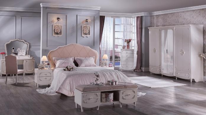 şık modern bellona yatak odası