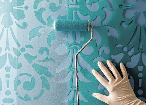 stencil duvar boyama