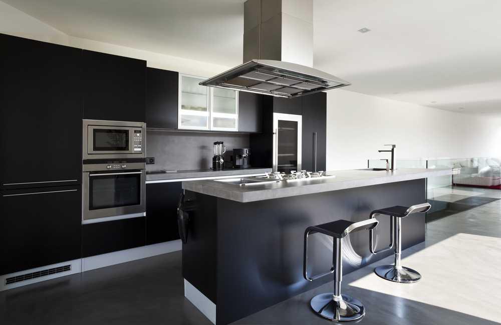 siyah mutfak dekorasyonları
