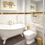 2021 altın renk banyo dekorasyonu
