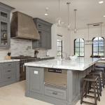 modern gri mutfak dekorasyonu
