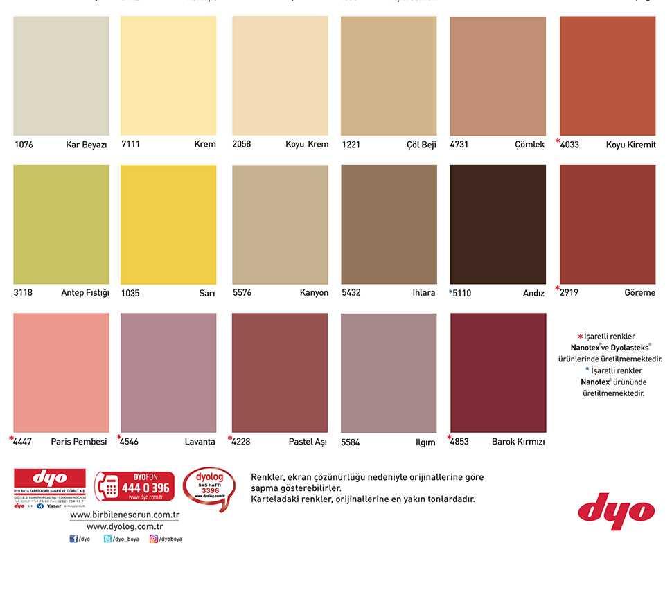 dyo boya dış cephe renkleri 2
