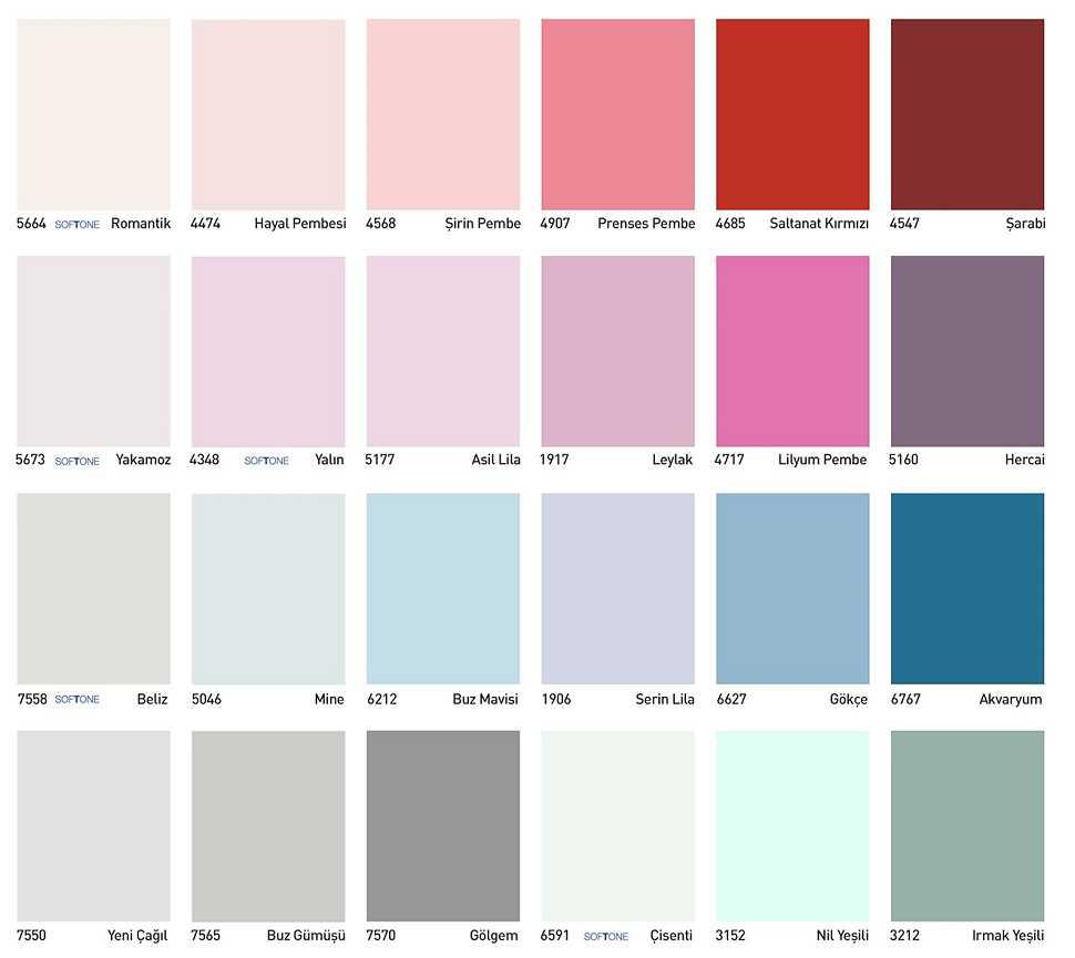 dyo boya iç cephe renkleri 1