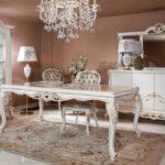 beyaz klasik yemek odasi ornekleri