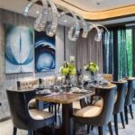 geniş yemek odası masaları