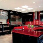 2021 Siyah Kırmızı Mutfak Takımları