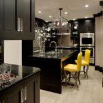 2021 Siyah Sarı Mutfak Takımları