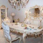 Beyaz Klasik Yemek Odası Takımları