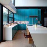 Mavi mutfak dekorasyonları