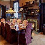 Mor Klasik Yemek Odası Takımları