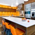 Turuncu Mutfak Mobilyaları
